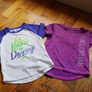 2 under armour purple shirts